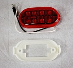 4 in Oval Red Digital LED Multi-Diode Side Marker Light