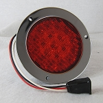 4 in Round Red LED Truck STT Light #019-01-306