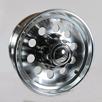 17.5 x 6.75 Aluminum Modular Trailer Wheel 8x6.50 Heavy Duty Center Cap & Flange Nuts Included