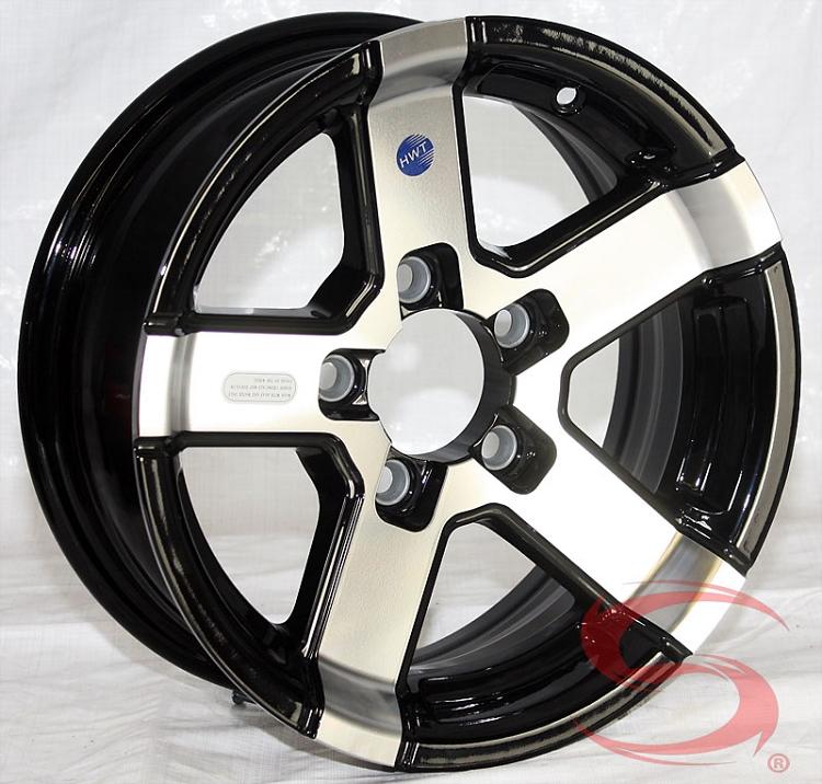 14 X 5 5 Hwt Series07 Aluminum Trailer Wheel 5 On 4 50