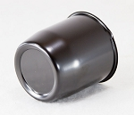 3.19 in Black Closed-Ended Trailer Wheel Steel Center Cap