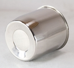 4.25 in Chrome Plated Steel Closed End Trailer Wheel Center Cap