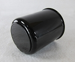 3.75 in Gloss Black ABS PlasticTrailer Wheel Center Cap Open End with Plug #1050-375BB