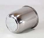 3.19 in Stainless Steel Trailer Wheel Center Cap