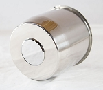 5.15 in Trailer Wheel Center Cap Stainless Steel Open End Plus Plug #112EZSS-60C
