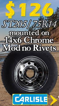 14 in Trailer Wheel & Tire Combo on Sale - Free Shipping, too!
