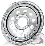 16 x 6 Chrome Modular Steel Trailer Wheel (No Rivets) 6x5.50, 3140 lb Max Load
