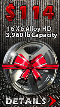 16 x 6 Hi Spec Series03 Aluminum Star Trailer Wheel - Autumn Sale.