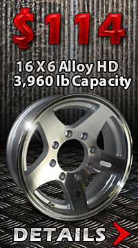 16x6 HiSpec Aluminum Star Trailer Wheel on sale. Free Shipping too.