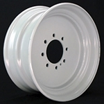 17.5x6.75 Commercial Truck/Trailer Wheel  Capacity 8x6.50 Lug 6005 lb Max Load  (FLANGE NUT REQUIRED: 5/8