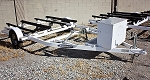 SOLD! Used 2010 Zieman Double Watercraft Trailer in White