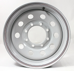 16x6 White Steel Modular HD Trailer Wheel, RBPS 8x6.5