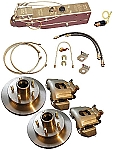 Titan Disc Brake Kit with Aero 7500 Actuator | Manual Lockout Single 3,500-lb Axle