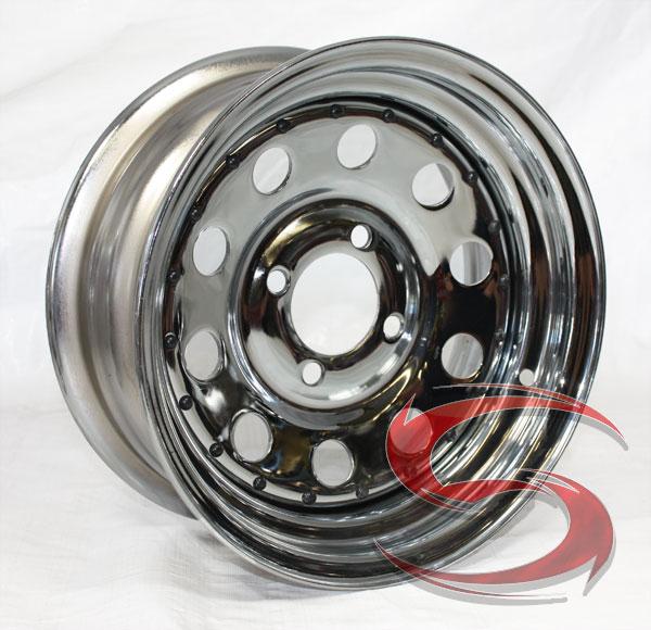 13 X 5 5 Chrome Modular Trailer Wheel 4 Lug 1 100 Lb Load