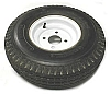 5.70 - 8  LR B Trailer Tire with White Trailer Wheel 4 on 4 Bolt Pattern