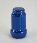 1/2-20 in Blue Anodized Steel Splined Lug Nut sold as each
