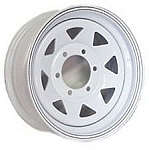 16 x 6 White Spoke Trailer Wheel 6 on 5.50 Bolt Pattern