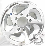 16 x 7 Hi Spec Series 5 Aluminum Trailer Wheel (8-Lug) 3200 lb Capacity