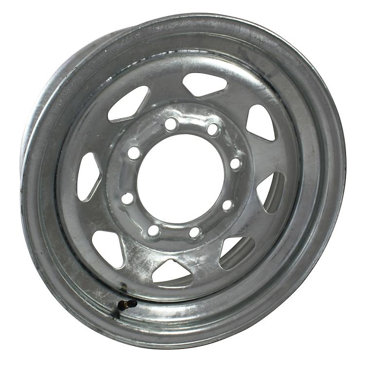 16 X 6 Galvanized Steel Spoke Trailer Wheel 8 Lug Free