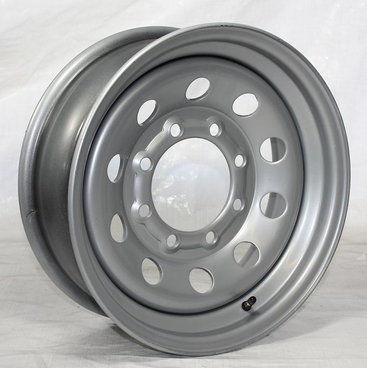 16 x 6 Silver Modular HD Steel Trailer Rim no Rivets 8 on ...