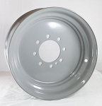 17.5x6.75 Grey Commercial Truck/Trailer Wheel, 8x6.50 Lug, 6200 lb Max Load  (FLANGE NUT REQUIRED: 5/8