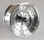 14x7 Aluminum American Racing Outlaw Aluminum Trailer Wheel, 5x4.50 Lug, 1580 lb Load Capacity