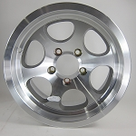 14 x 6.5 Carlisle Phantom 7 Aluminum Trailer Wheel, 5 on 4.50 Bolt, 1870 lb Capacity