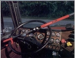 The Club 18 Wheeler Steering Wheel Anti-Theft Lock - Red