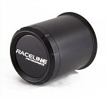 3.19 in Black Raceline Trailer Wheel Center Cap Open End Plus Plug #CP860-3190
