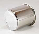 3.195 in Straight Barrel Stainless Steel Center Cap Open End Plus Plug