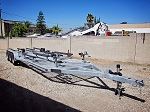 SOLD - 4 Place Galvanized Jet Ski/Combination Flatbed Shadow Trailer Rental