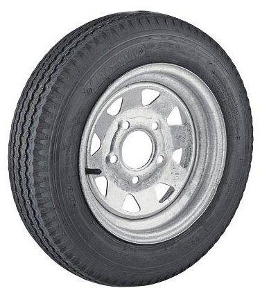 Light Truck Tires Reviews >> 12 inch Galvanized Steel Spoke Trailer Wheel and Tire ST145R12