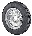 14 inch Galvanized Spoke Trailer Wheel and 1855R14LT Radial Light Truck Tire Assembly