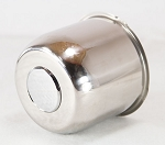4.90 in Stainless Steel Trailer Wheel Center Cap Open End Plus Plug