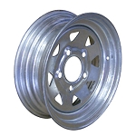12 x 4 Greenball Galvanized Steel Spoke Trailer Wheel 5 on 4.50 Lug, 1,220 lb Load Capacity
