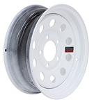 13 x 4.5 White Modular Trailer Wheel 5 on 4.50 NO Pin Stripe, 1,660 lb Load Capacity
