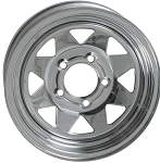 14 x 6 Chrome Spoke Steel Trailer Wheel 5 on 4.50 Bolt Pattern