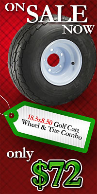 Golf Cart Tires and Wheels on Sale, Limited Time Only!