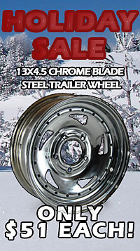 13 inch Chrome Blade Steel Trailer Wheel Fall Sale!