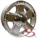 15x6 HWT HiSpec Series 01, 6 on 5.50 Aluminum Trailer Wheel and Center Cap