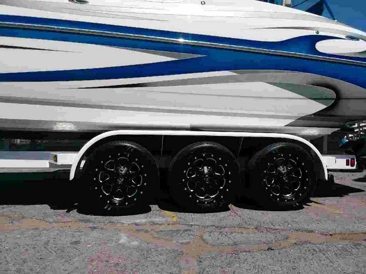 16 X 8 Black Fuel Boost Aluminum 5 X 4 50 Trailer Wheel