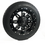 18X9 FUEL, Lethal Black Aluminum Trailer Wheel, 5X4.50 LUG, 2500 LB CAPACITY w/ Cooper ST255/55R18 Radial Tire