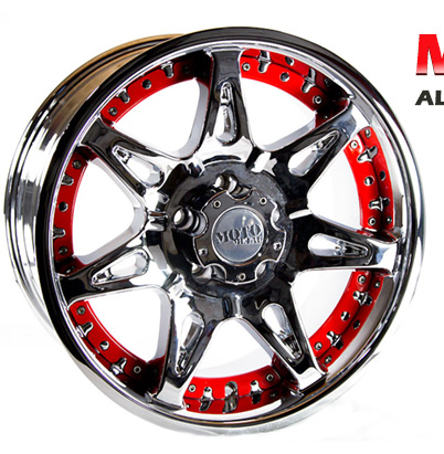 18x9 Chrome Aluminum Moto Metal Trailer Rim