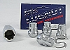 Chrome Spline Bulge Trailer Wheel Lug Nut Lock 1/2 in. Thread 3/4