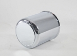 3.75 in Chrome ABS Plastic Trailer Wheel Center Cap Open End with Plug #1050-375CC