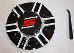 Trailer Wheel Center Cap #S1050-156B for 15 in #T05 Trailer Rim