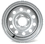 13 x 4.5 Silver Modular Steel Trailer Wheel 5x4.5 S1345545MS