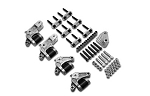 Dexter K71-656-00 E-Z Flex® Suspension Triple Kit for 33 in Axle Centers and axles up to 6000 lb 26.00 in, Double eye springs