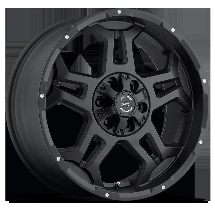 18x9 S37 Stealth Sendel Black Aluminum Wheel (Matte Black ...