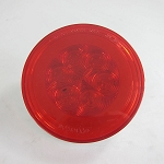 GloLight 4 in Round Red Trailer LED Stop, Turn, Tail Light, Submersible, 21 Diodes #STL101RB